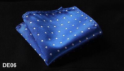 DE Polka Dot Men Silk Satin Pocket Square Hanky Wedding Party Handkerchief