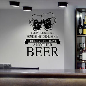 Beer Wall Decor another beer wall art sticker transfer bars restaurants kitchen