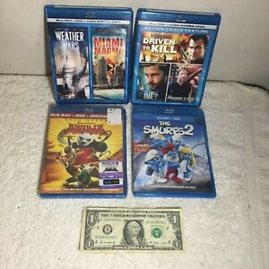 #11 Lot of 4 Blu-Ray + DVD - The Smurf 2 Kung Fu Panda 3 & 2 Feature Film