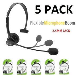 5x Cellet 2 5mm Hands Free Headset With Boom Mic For Home Office Cell Phones 800768608155 Ebay