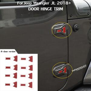 16x Red Door Hinge Cover Decal Sticker Trim Accessories