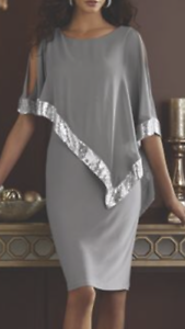 38417062677 Image is loading Midnight-Velvet-Gray-Silver-Formal-Party-Clarice-Sequin-