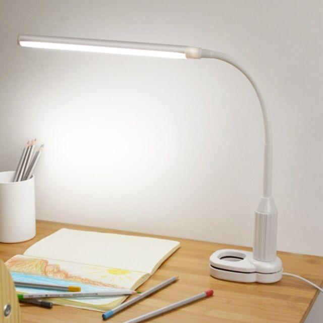 Lampe de Bureau 5W 24 LED Pliable Intensité Réglable avec Capteur Tactile USB