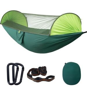Portable Automatic Camping Hammock with Mosquito Net,Folding Multi Use K8E1