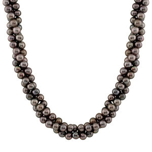 9mm natural purple rice shape freshwater pearl necklace, 14k gold clasp SPG-06