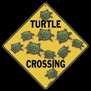 """16/"""" diagonal 12/"""" on sides SEA TURTLE Crossing Sign Indoor//Outdoor Use-Metal"""
