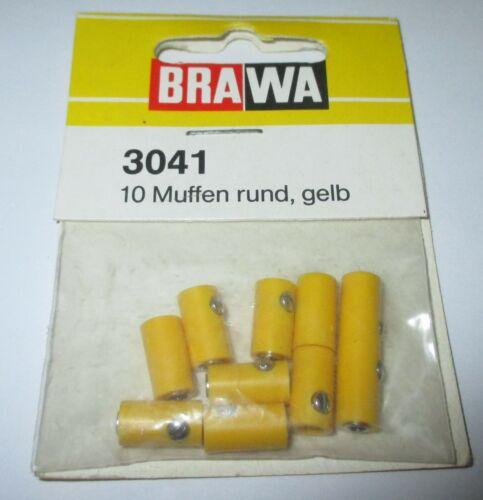 gelb 10 Stück Stck 24,9 ct NEU Brawa 3041 Muffen rund