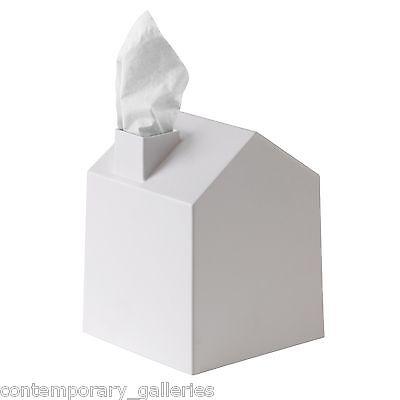 "New Umbra Contemporary Modern Casa House Home White Square 5"" Tissue Box Cover"