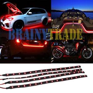 4-PCS-12-034-1FT-15-Flexible-LED-Strip-Light-Waterproof-For-Car-Truck-Boat-12V
