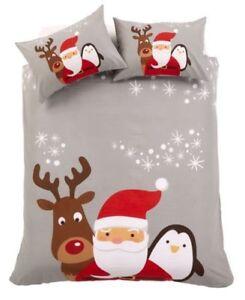 Copripiumino Natale.Natale Amici Set Copripiumino Natale Biancheria Da Letto Grigio