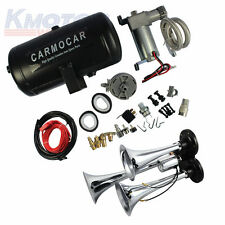 New 98c 1 Gallon Best Buy With Loud Triple Trumpet Air Horn Kit For Car Truck RV