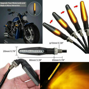 4X-Universal-12-LED-Motorcycle-Flowing-Turn-Signal-Indicator-Blinker-Light-Amber