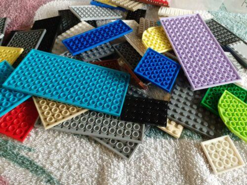 LEGO Job Lot x 40 Base Plates Mixed Sizes, Mixed Colours City Friends Used