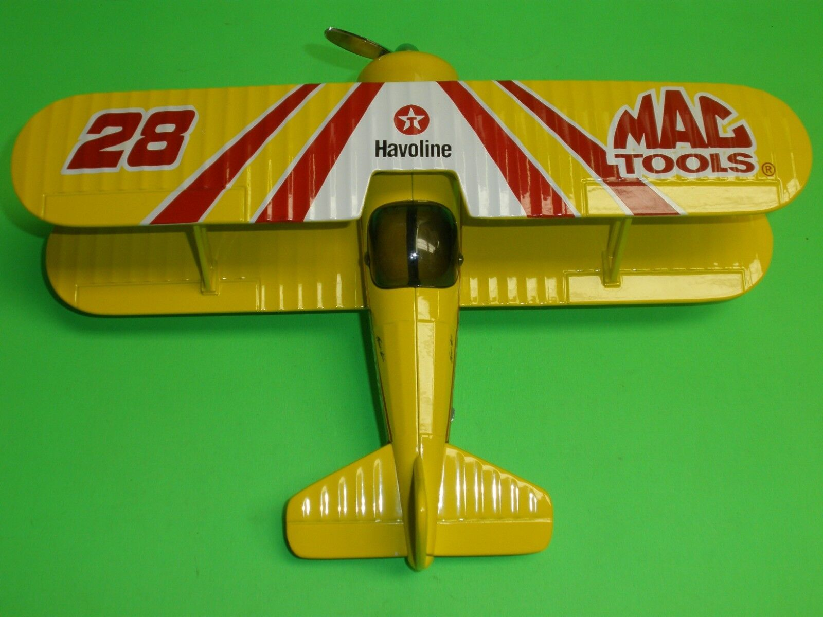 Mac Tools Texaco Havoline Stearman Bi-Avión Avión Diecast