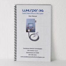 Whisper 3g Solid State Erbium Yag Laser User Manual Sandstone Medical Booklet