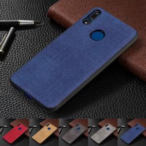 Pour-Huawei-Y5-Y6-Y7-2019-antichoc-tissu-texture-silicone-souple-TPU-Case-Cover