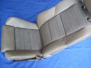 BMW-5er-E60-E61-Beifahrersitz-Sportsitz-Teilleder-Trueffelbraun-Sitzheizung