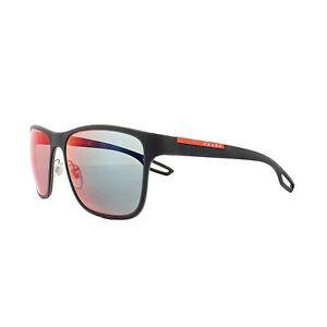 896e49fee4 Image is loading Prada-Sport-Sunglasses-PS56QS-TFY9Q1-Blue-Rubber-Dark-