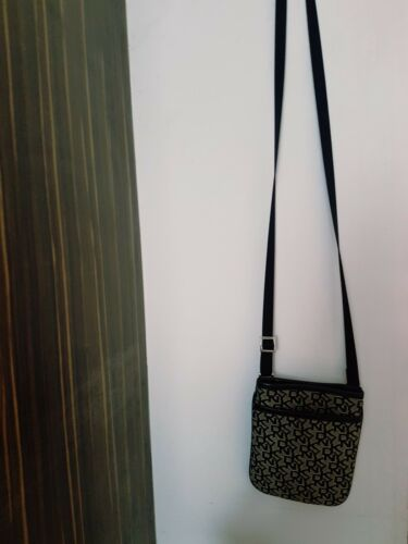 Strap Dkny Small Canvas Bag Long Messenger Black qgw1xTnEOP