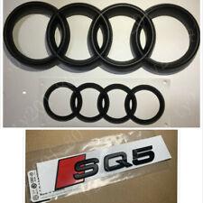 Audi SQ5 Chrome Logo Badge Emblem Easy To Affix On Flat Surface Genuine New