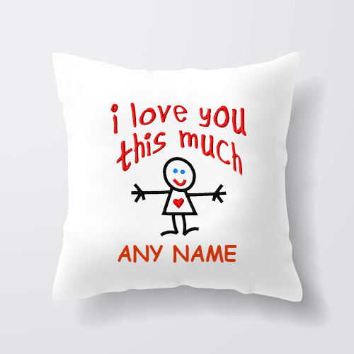 Personalised Valentines Day Love You Image Square Pillow Case Cover Custom Gift