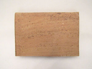 vintage cork leather wallet made in spain passport cover clear