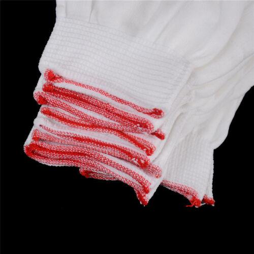 5 Paare allgemeine weiße Baumwolle Futter Handschuhe Gesundheit Arbeit