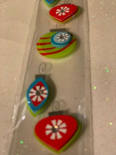 RECOLLECTIONS 3D STICKERS CHRISTMAS BORDER CHRISTMAS ORNAMENTS RARE STICKERS