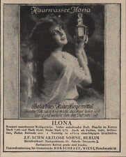 BERLIN, Werbung / Anzeige 1925, J. F. Schwarzlose & Söhne Ilona Haarwasser