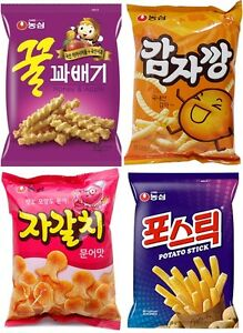 NongShim-034-Delicious-Story-034-Korean-Snack-Mini-4Packs-Collection