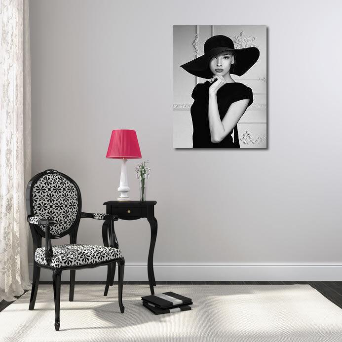 Julian Lauren Lauren Lauren  LADY WITH ha telaio-Immagine Tela Donna Cappello Fashion Style 80fea6