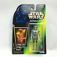 Star Wars POTF2/2-1B MEDICAL DROID Action Figure/Kenner 1996/Green HOLO Card MOC
