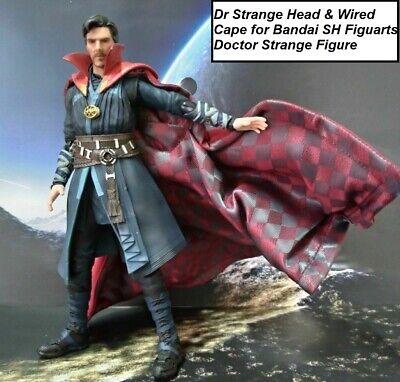"Flashback 1//12 Doctor Strange Head Carving w// Cloak Model For 6/"" Male Body"