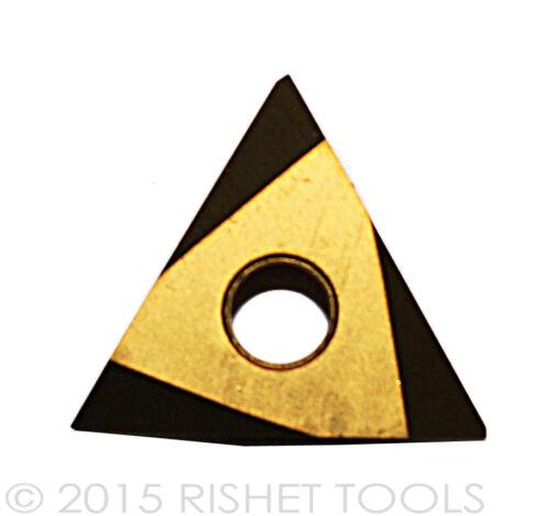 10 PCS RISHET TOOLS TNMA 54NV C5 Multi Layer TiN Coated Carbide Inserts