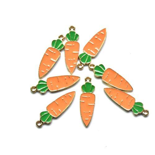 5PC Enamel Carrot Charm Pendant 35*10mm For DIY Earrings//Bracelet//Necklace