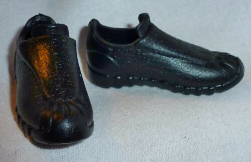 KEN SHOES ~ MATTEL DOLL BLACK TEXTURED SNEAKERS FINNICK HUNGER GAMES SHOES