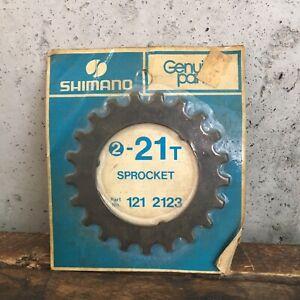 Vintage-Shimano-Freewheel-21t-Sprocket-21-Tooth-Part-121-2123-NEW-NOS