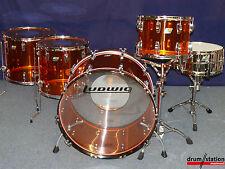 "Ludwig USA Amber Vistalite ""JOHN BONHAM "" Drumset - 26,14,16,18"""