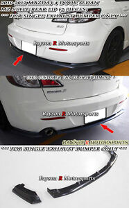 MS-Style Front Lip Single Exhaust Fits 10-11 Mazda 3 5dr MS-Style Rear Lip
