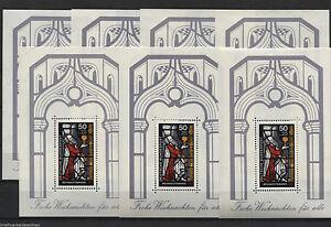 7-x-Bund-Block-Nr-15-sauber-postfrisch-Motiv-Weihnachten-1977-BRD-Nr-955-MNH