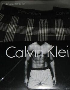 NEW-CALVIN-KLEIN-BLACK-WH-100-COTTON-TRADITIONAL-FIT-BOXERS-SHORTS-UNDERWEAR-38