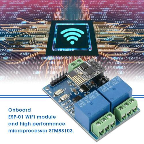 5V ESP8266 Dual-Kanal WiFi Relais IOT Smart Home Handy Fernschalter Relay Module