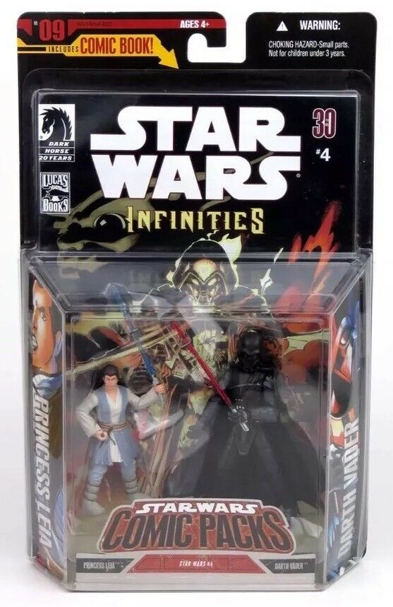 2007Star Wars The Infinities Comic Packs -Princess Leia vs Vader⭐️Collectable⭐️