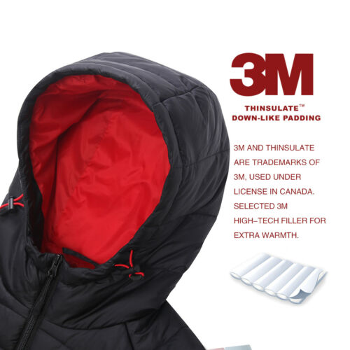 Men/'s Lightweight Water-Resistant Hooded Quilted Puffer Jacket Coat Outwear