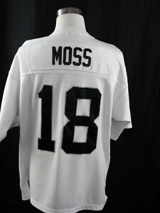 more photos 26ae1 03c7d Details about 2005 THROWBACKS AUTHENTICS WHITE OAKLAND RAIDERS JERSEY RANDY  MOSS #18 SIZE 52