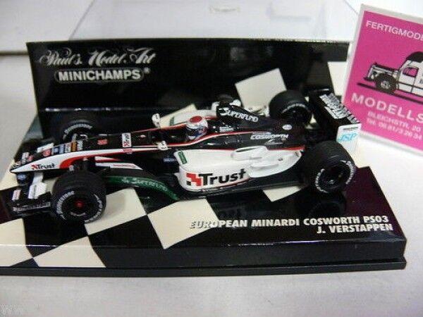 1 43 Minichamps Minardi Cosworth PS03 J.Verstappen 2003