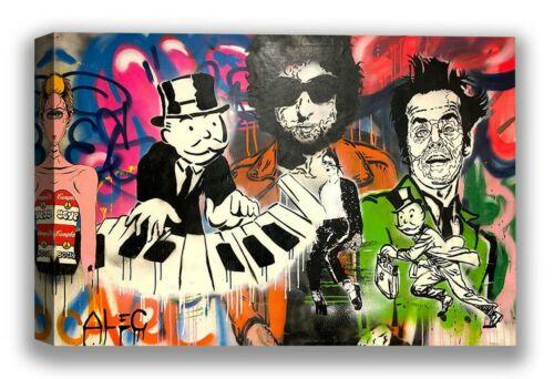 Alec Monopoly Street Art Canvas Piano Graffiti Wall Decor