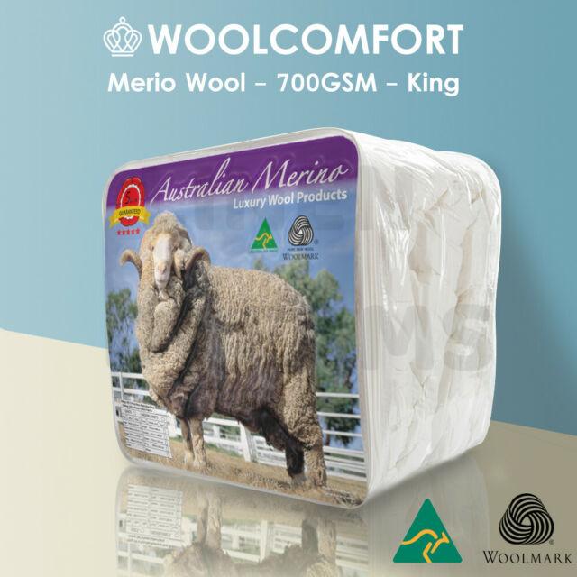KING SIZE--Aus Made  700GSM Luxury 100%  Merino Wool Quilt Doona Duvet Blanket