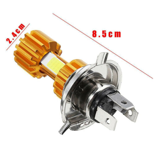 Motorcycle H4 LED Headlight Bulb 6000K Hight Low Beam Cool White 2000LM 18W