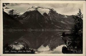 Opstryn-Norwegen-Norge-Sogn-Og-Fjordane-AK-1930-Utsikt-fra-Hjelle-Berge-Fjord